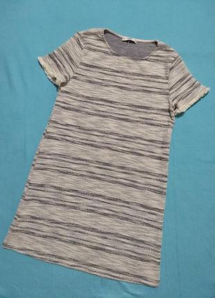 Твидовое (фактурное) платье mango