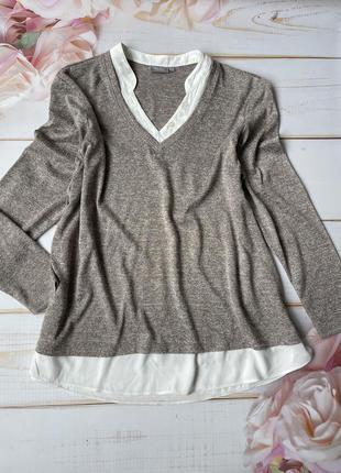 Кофта с имитацией рубашки