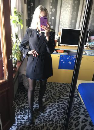 Шикарный плотный длинный пиджак amisu❤️