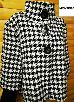 Шикарнейшее базовое пальто,тренч,жакет (гусиная лапка - тренд сезона)  montego, .