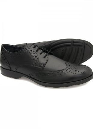 Натур. кожаные броги туфли оксфорды на тракторной подошве