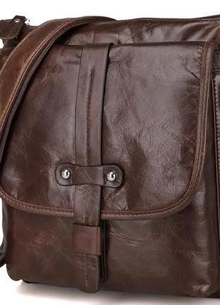 Чоловіча шкіряна сумка з 100% натуральної шкіри
