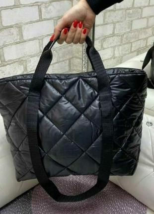 Стеганная сумка, сумка из плащевки, спортивная сумка, повседневная сумка