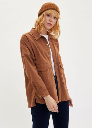 Новая женская куртка-рубашка de facto, размер xl оверсайз