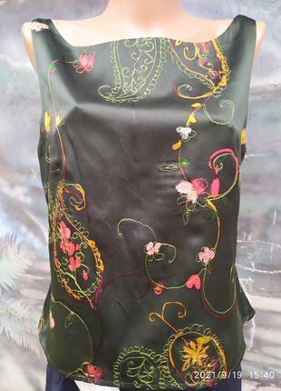Винтажная блуза 100%блуза винтаж,вышивка,премиум бренд