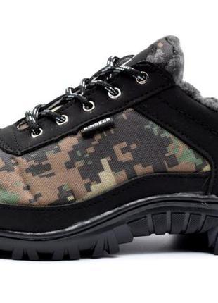 Мужские кроссовки зимние утепленные камуфляжные (кб-16)