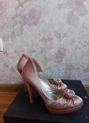 Туфли туфельки на каблуке 'модный шикарные туфли  pura lopez