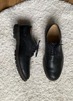 Натур. кожаные туфли дерби оксфорды на тракторной подошве