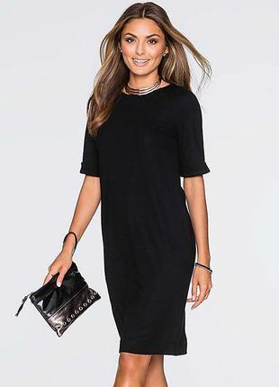 Чёрное классическое строгое платье sisley, 36/xs,  новое