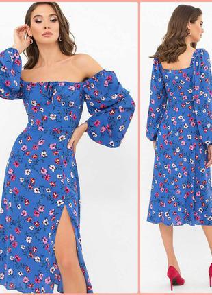 Очаровательное платье с цветочным принтом (3 цвета)*отличное качество