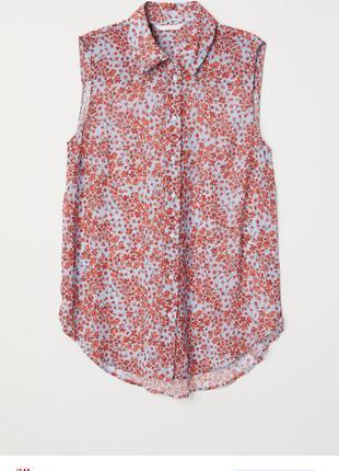 Блуза без рукавов размер 40 // l  полиэстер  h&m