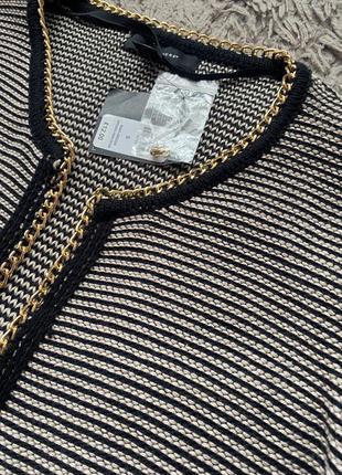 Кардиган кофта джемпер с цепочкой вязаная свитер жакет