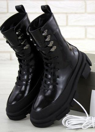 Новиночка ботинки lost general x both gao high, кожа, черный, вьетнам