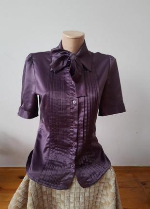 Атласная нарядная блуза