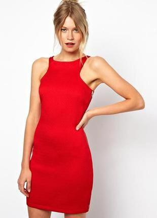 Манго, красное платье, платье мини