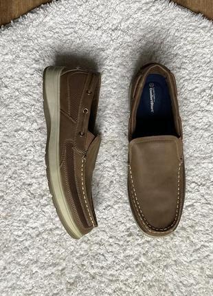 Новые натур. кожаные стильные туфли мокасины