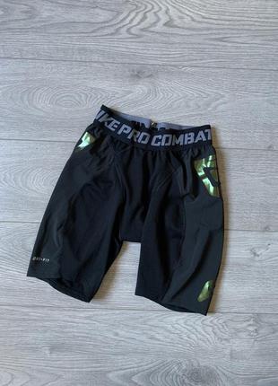 Nike pro, мужские спортивные компрессионные шорты р. м оригинал