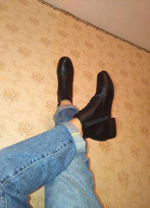 Сапоги, ботинки кожа. демисезон