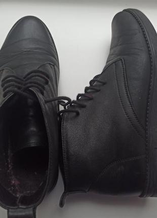 Ботинки кожаные на шнуровках