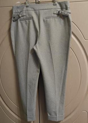 Стильные брюки в клетку на р.52/uk16