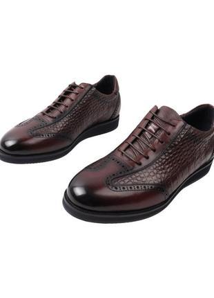 Туфли мужские croco, натуральная кожа
