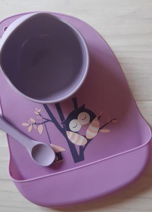 Набір дитячого силіконового посуду