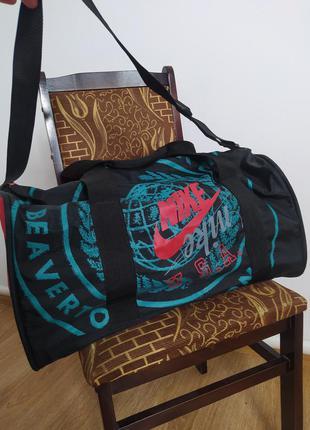 Большая винтажная сумка nike usa