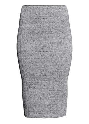 Теплая юбка карандаш h&m p. s-m серая юбка