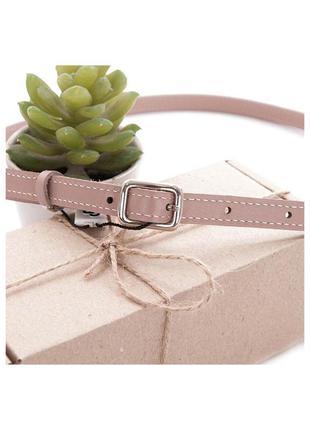 Ремень женский кожаный узкий пудровый grande pelle 14406010022