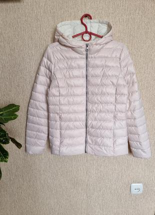 Стильный стеганный пуховик, куртка, курточка с капюшоном the outerwear, пух, перо