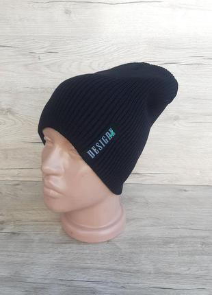 Вязаная шапка лопата для девушек в чёрном цвете. в наличии есть разные цвета!