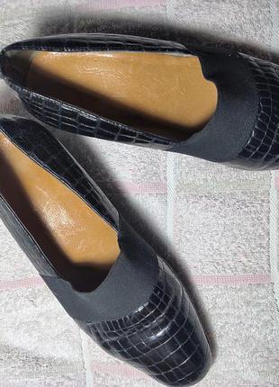 Кожаные туфли grip на стопу 23-23,5 см