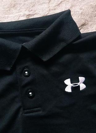 Черное поло трендовая футболка under armour