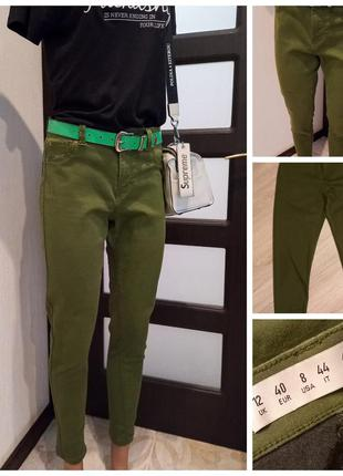 Комфортные зелёные брюки штаны