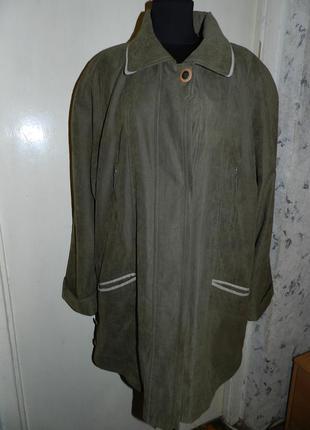 Элегантная,оливковая,деми куртка, с кучей карманов,большого размера,батал,германия