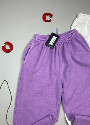 Светло фиолетовые джогеры на флисе