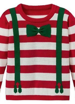 Новогодняя кофта свитер джемпер полувер lupilu