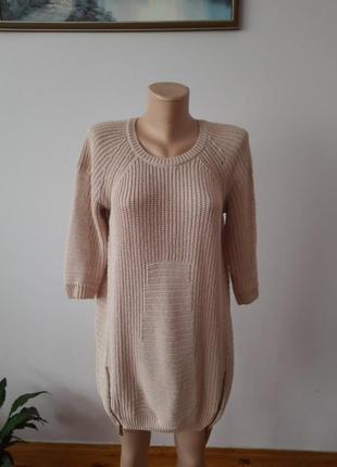 Акриловая туника платье теплое