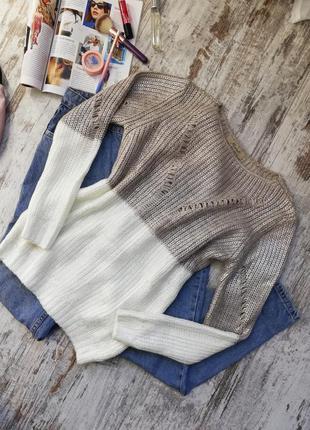 Последний - свитер косичка, весенний свитер, блестящий свитер, женский свитер