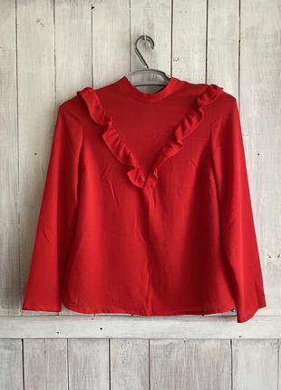 Стильная блуза / красная / new look