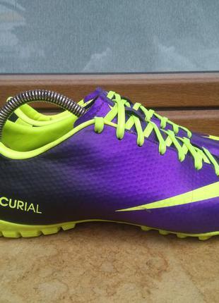 Копачки сороконожки nike mercurial victory iv astro trainers 555615-570 purple uk7/us8/eu41 40р
