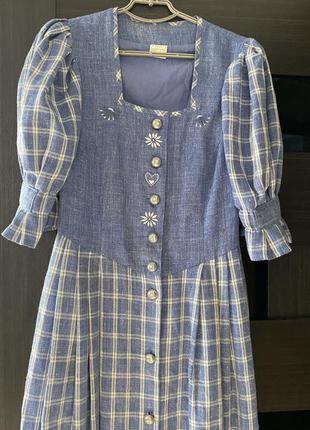 Винтажное льняное платье