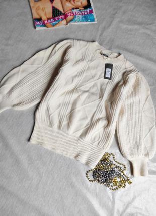 Новый свитер с объемными рукавами модель 2020год p.s