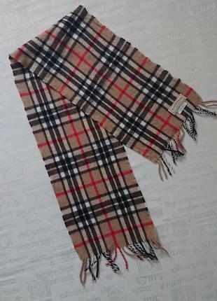 Стильный шерстяной шарф в клетку scotland, унисекс/ классика #100%шерсть#