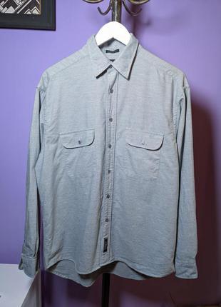 Сорочка рубашка h&m класична овершот серый сіра