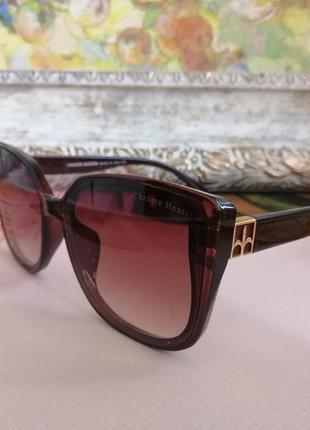 Модные коричневые солнцезащитные женские очки лисички