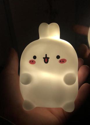 Ночник фонарик светильник для ребёнка для мальчика для девочки зайчик