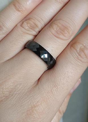 Кільце чорне кольцо керамика черное керамічне