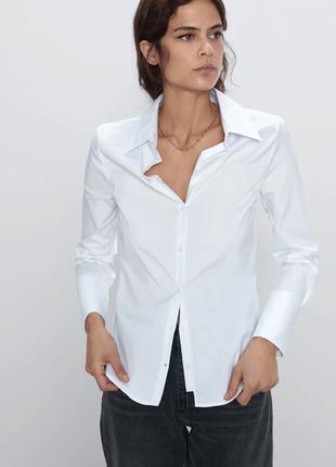 Zara белая рубашка біла сорочка