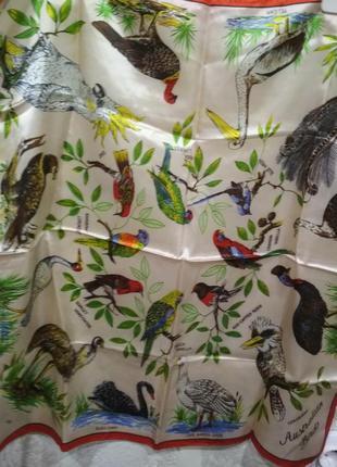 Винтажный платок из ацетата heil australian birds, japan